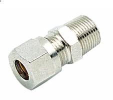 """160007814 Rechte knelkoppeling 8mmx1/4""""M (chroom)"""